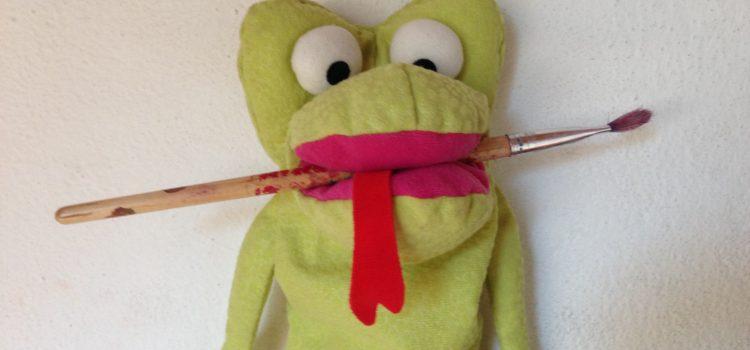 Zwergenatelier mit Frosch Fridolin